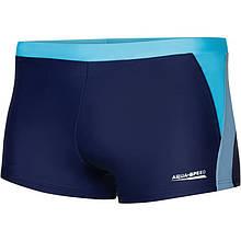 Мужские плавки боксеры Aqua Speed Dario, темно-синий с бирюзовым и серым S