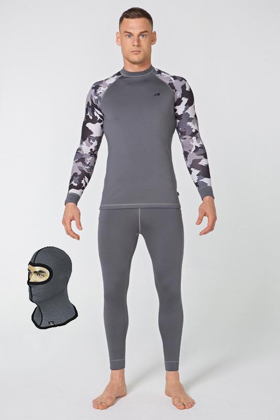 Комплект мужского спортивного термобелья Rough Radical Shooter  S Серый + балаклава