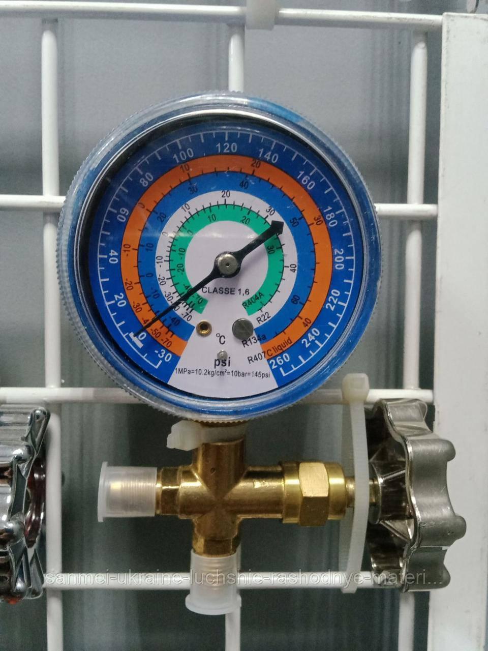 Манометрический коллектор 1- вентильный  CT-466G (R-404/22/134/407)