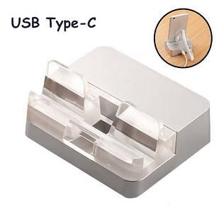 Подставка антикражная с зарядкой, док-станция антивор, USB Type-C, MAS0004