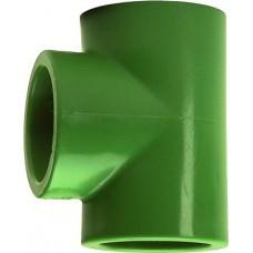 Тройник редукционный, PP-R, D = 25x20x25 мм, зеленый