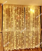 Гирлянди штора120 LED 1.5м*1.2м, білий теплий