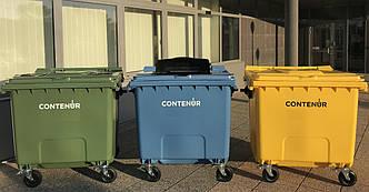 Пластиковий євроконтейнер для роздільного збору сміття на 1100 л. CONTENUR