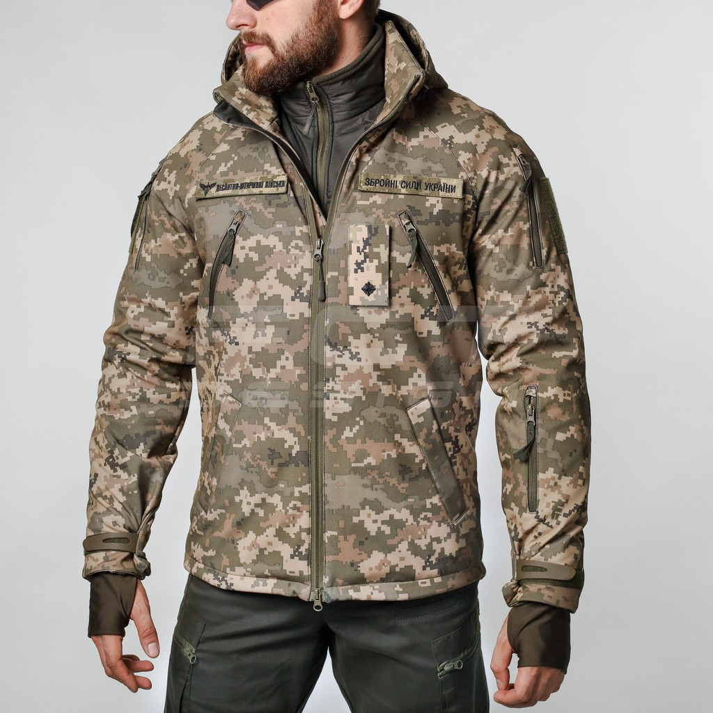 Куртка Хантер Софтшелл фліс на сітці піксель ЗСУ/ВСУ