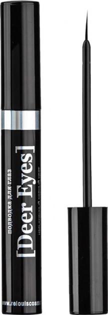 Жидкая подводка для глаз с кисточкой черная Relouis Deer Eyes Black 7 г