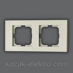 GRANO Рамка 2-ая цвет белый