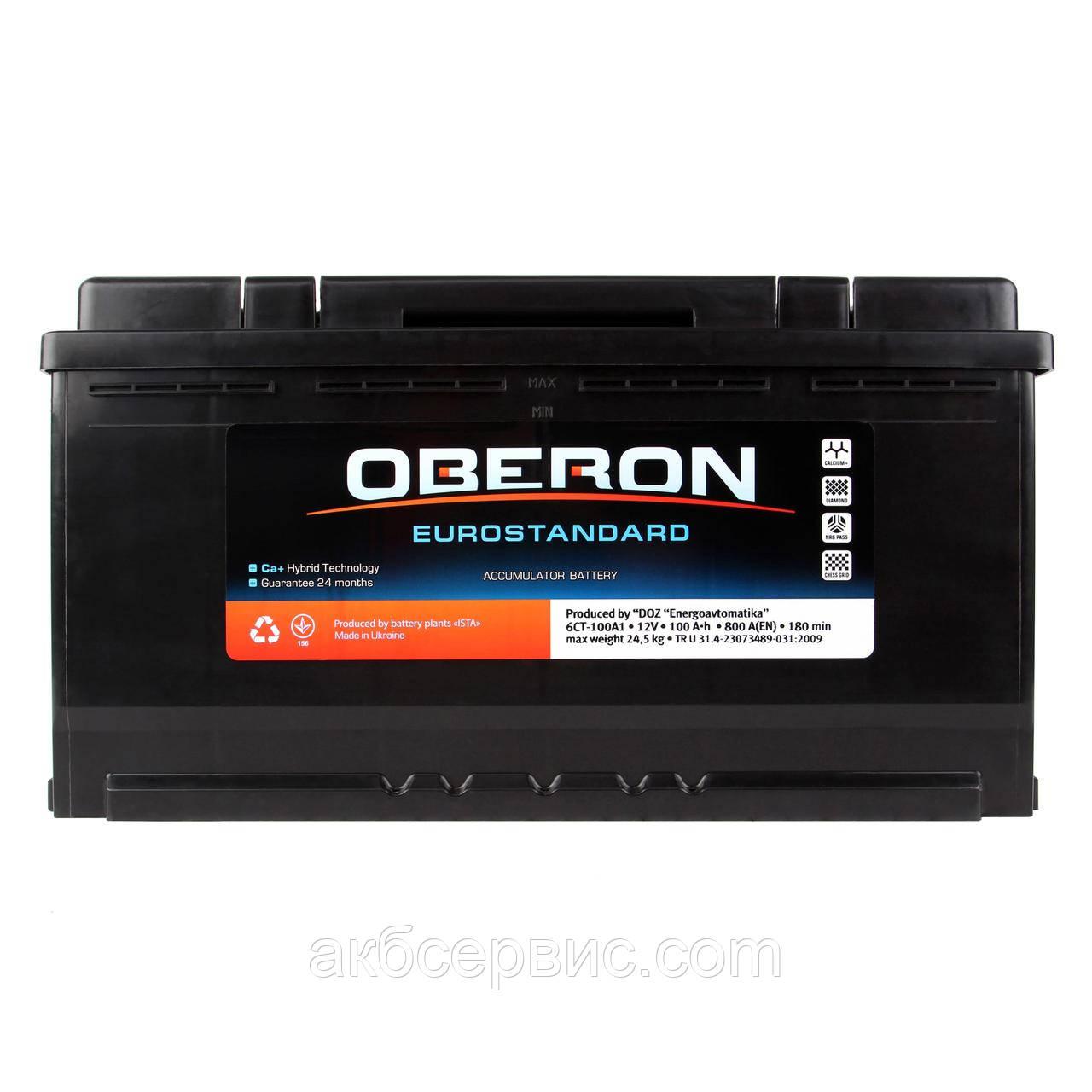 Аккумулятор автомобильный Oberon 6СТ-100 AзE Eurostandard