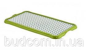 Сушилка-поднос для посуды, стаканов, фруктов пластиковая (поднос бирюзовый, решетка белая  ) Hobby Life