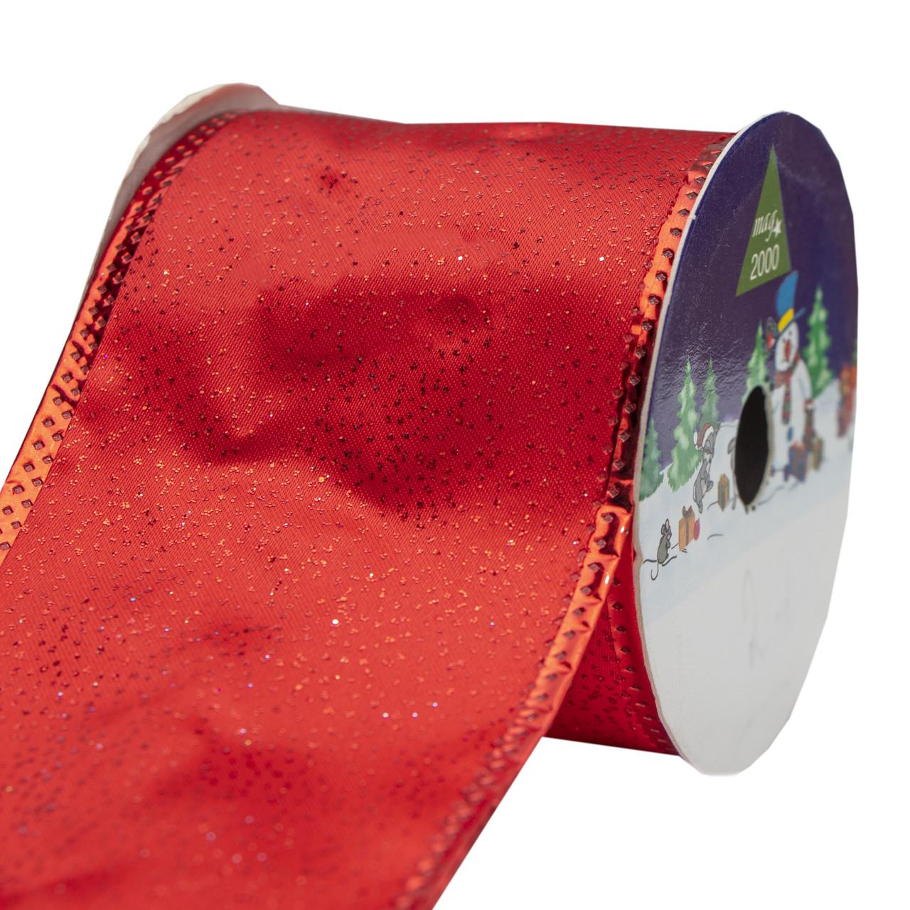 Лента декоративная из атласа в рулоне, 6, 3см*3 м, красная (080495-2)