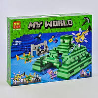 """Конструктор Bela 10734 Minecraft """"Подводная крепость"""" 1134 деталей."""
