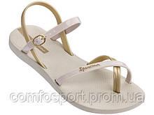 Женские сандалии босоножки Ipanema  Fashion Sand бежевые 38й 24,5 см