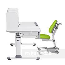 Комплект для школьников парта Cubby Rimu Grey + подростковое кресло FunDesk Ottimo Green, фото 3