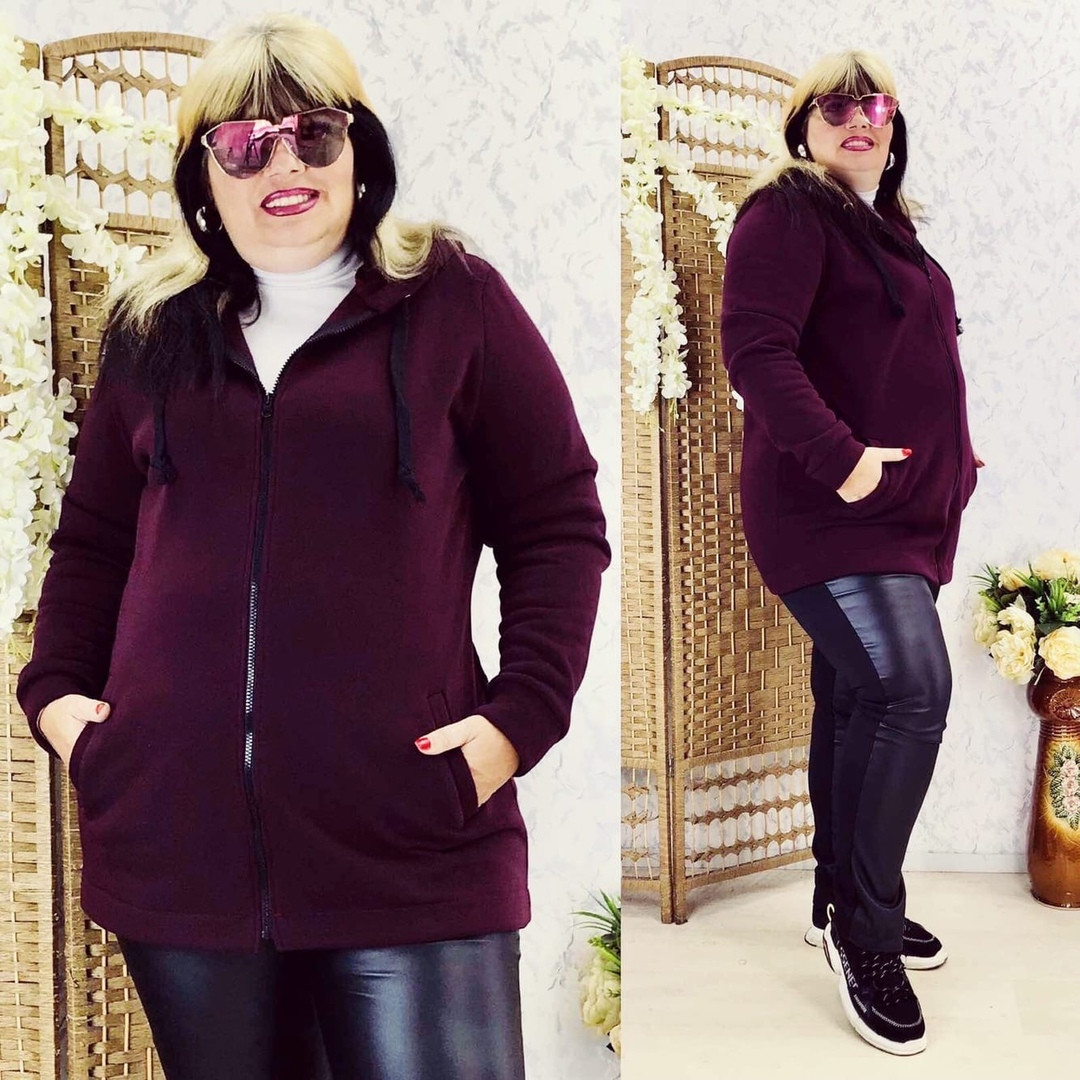 Кардиган женский теплый бордовый цвета  от YuLiYa Chumachenkо