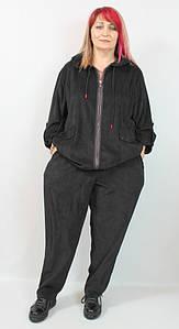 Турецкий женский вельветовый костюм больших размеров 56-64