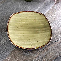 "Квадратная тарелка зеленая из фарфора Kutahya Porselen ""Corendon"" 210 мм (GR3221), фото 1"