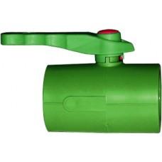 Кран шаровый, PP-R, D = 25 мм, зеленый