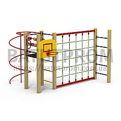 Игровой комплекс с гладиаторской сеткой для детей Спорт_а