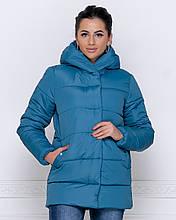 Куртка зимняя с капюшоном  цвет морская волна  от YuLiYa Chumachenko
