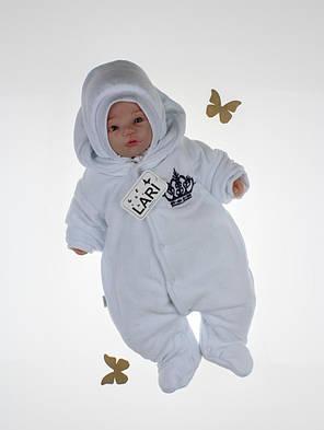 Зимний комплект на выписку для новорожденного мальчика набор Очарование белый, фото 2