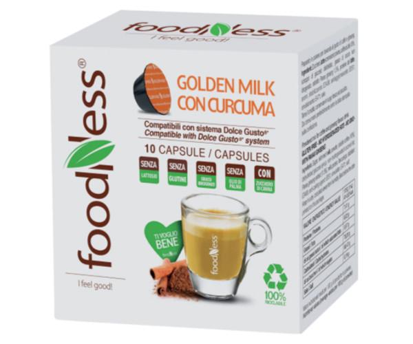 Напиток Foodness Dolce Gusto Golden milk con curcuma / Золотое молоко с куркумой 10 шт