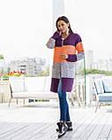 Кардиган женский  вязанный оранжево-синего цвета  от YuLiYa Chumachenkо, фото 3