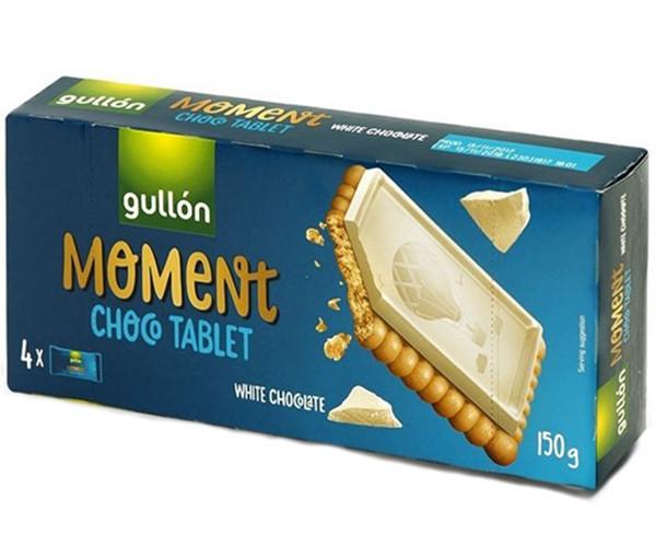 Печенье GULLON MOMENT Chocotablet с белым шоколадом 150 г (8410376049121)