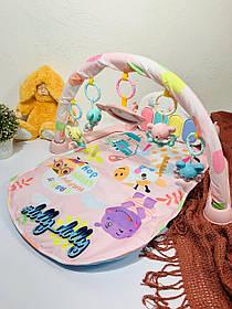 Развивающий коврик-пианино для младенца 681-682, Розовый
