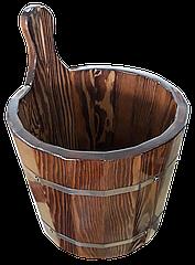 Шайка лиственница мореная 7 л для бани и сауны