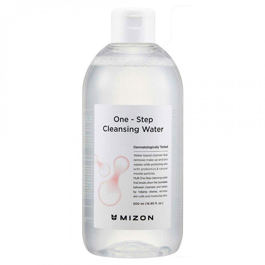 Міцелярная вода для очищення шкіри обличчя з пробіотиками Mizon One-Step Cleansing Water 500 мл