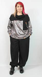 Турецкий женский брючный костюм больших размеров 54-64