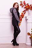 Куртка теплая с капюшоном серого  цвета   от YuLiYa Chumachenko, фото 3