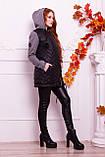 Куртка теплая с капюшоном серого  цвета   от YuLiYa Chumachenko, фото 4