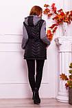 Куртка теплая с капюшоном серого  цвета   от YuLiYa Chumachenko, фото 5