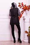 Куртка теплая с капюшоном серого  цвета   от YuLiYa Chumachenko, фото 6