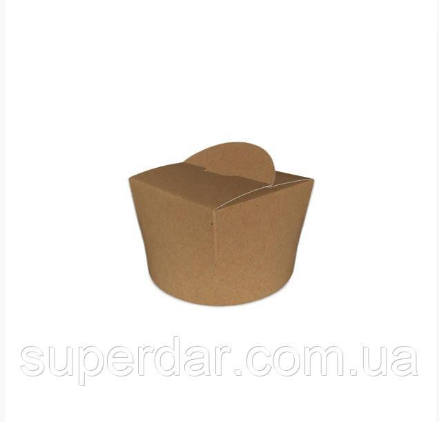 Коробка ВОК 80х80х60 мм для лапши и салатов, мороженого 350 мл Крафт (ящ.: 750 шт)