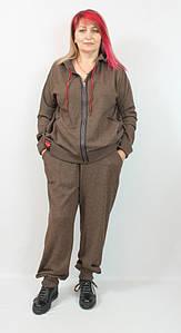 Турецкий женский шерстяной костюм больших размеров 54-64