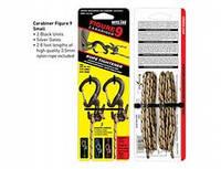 Набор крепления для веревки с веревкой Figure 9 Carabiner Small Black - Two Pack with Rope черный