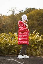 Детское пальто для девочки Верхняя одежда для девочек Bomboogie Италия CG041V Малиновый