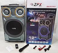 Портативная Акустическая колонка с микрофоном и Bluetooth ZX 7777