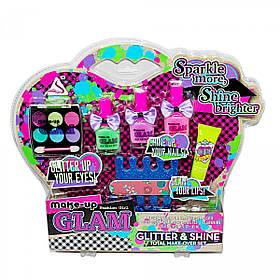 Детский набор косметики Make-Up Glam   Набор блеск, лаки, тени, аксуссуары