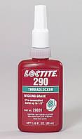 Капиллярный фиксатор резьбы Loctite 290 (Локтайт 290) , до М6 (до 0,05 мм), до +150°C, 50 мл