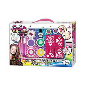 Детский набор косметики Cool Colection J-2011   Набор мелки для волос, татуировки