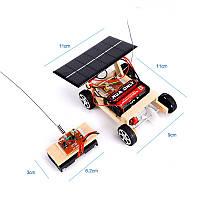 Машинка на сонячній батареї радіокерована, конструктор дитячий - саморобка