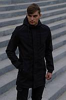 Куртка мужская черная Softshell V2.0 демисезонная Intruder. + Ключница в подарок осенняя весенняя на флисе