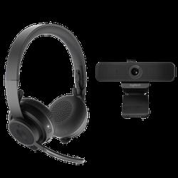 Комплект от компании Logitech: гарнитура Zone Wireless и веб-камера C925e