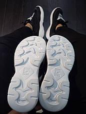 Мужские кроссовки Рэй Pobedov (черные с белой подошвой), фото 3