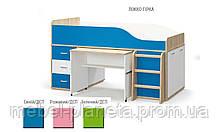 """Кровать детская с выдвижным столом""""Лео"""" (Мебель Сервис)"""