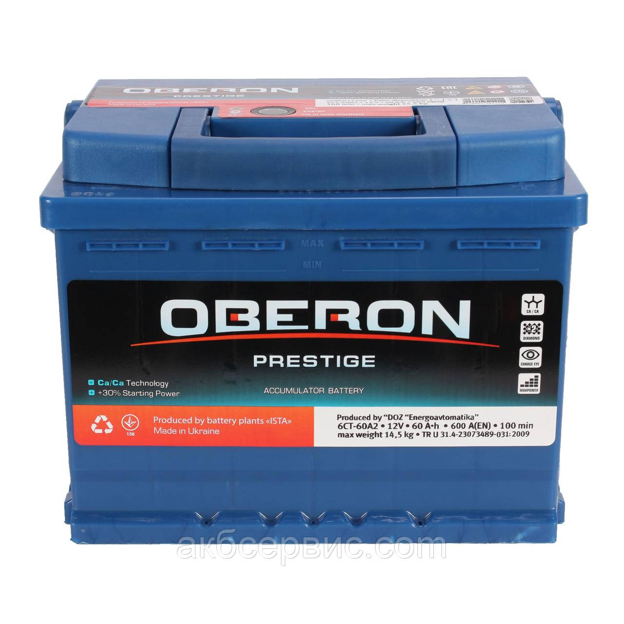 Аккумулятор автомобильный Oberon 6СТ-60 AзE Prestige