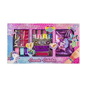 Детский набор косметики Cosmetic Collection J1018   Набор лаки, косметичка, наклейки