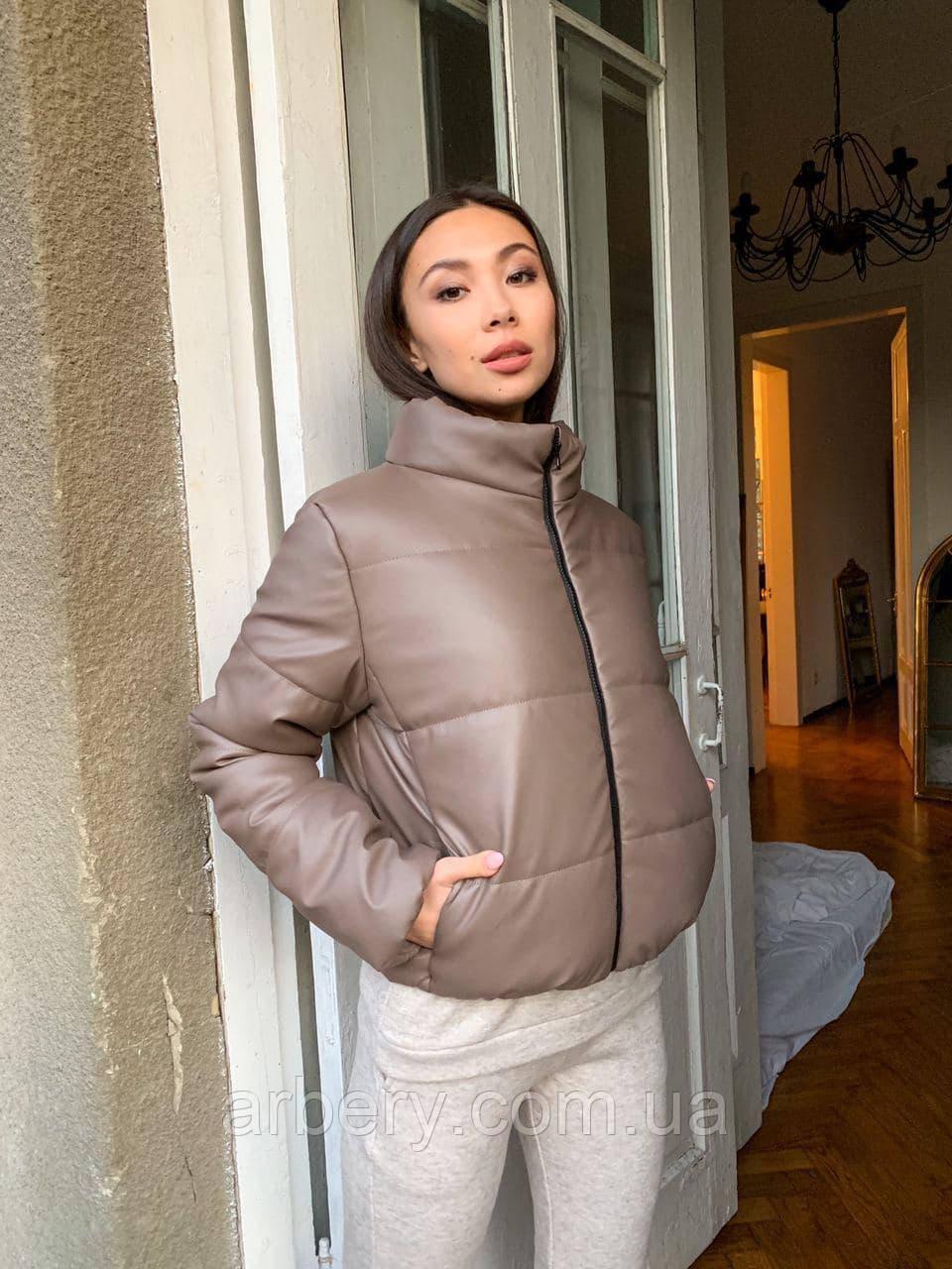 Женская матовая зимняя куртка